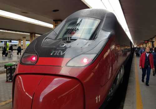 Italo high speed train in Italy