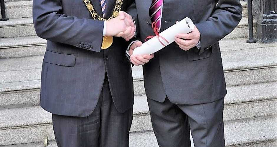 Pat Liddy and Lord Mayor