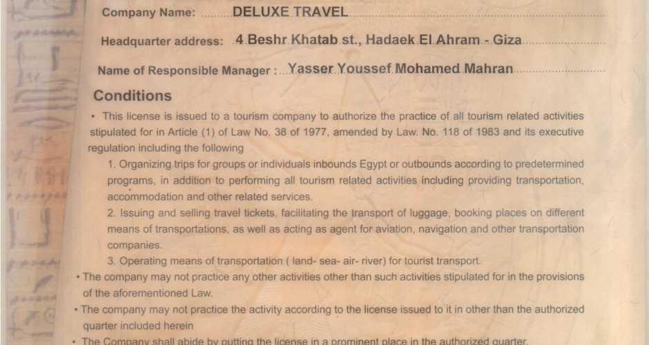 Deluxe Travel License
