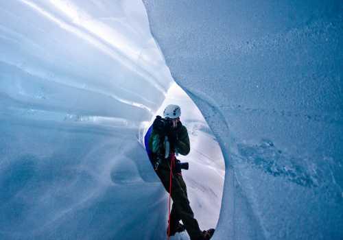 Blue ice tunell, Juklavass Glacier, Folgefonna