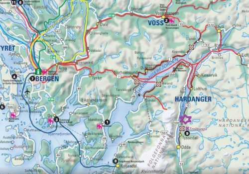 Stana Gard ligger i vakkert fjordlandskap ved Nasjonal Turistveg Hardanger