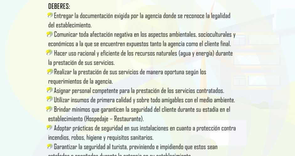 Deberes y derechos de nuestros proveedores