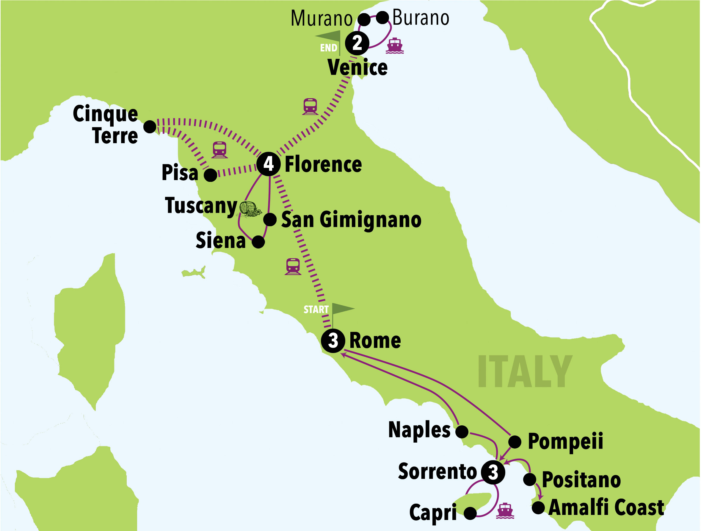 Map Of Italy Showing Pisa.Mamma Mia 13 Days 12 Nights Italy On A Budget Tours Italy 1