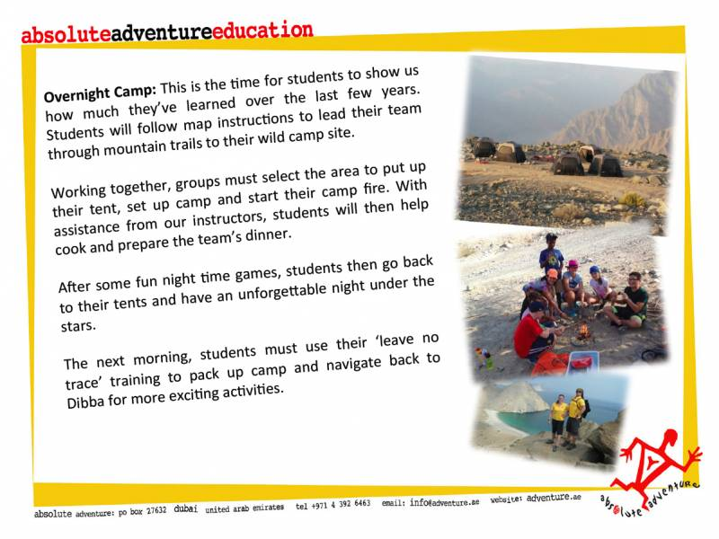Absolute Adventure Sample Activities in Dibba