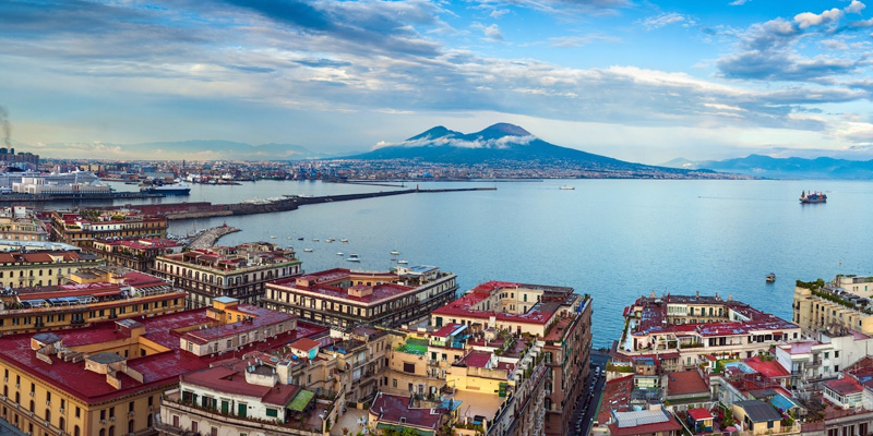 vesuvius view during a private day trip around naples
