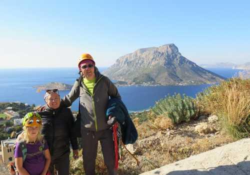 Klätterfamiljen på Kalymnos