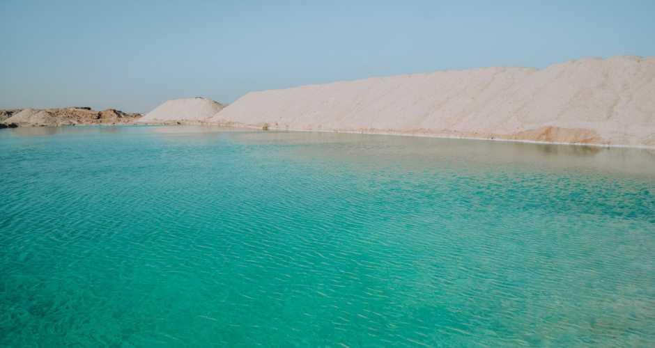 The salt Lake in Siwa