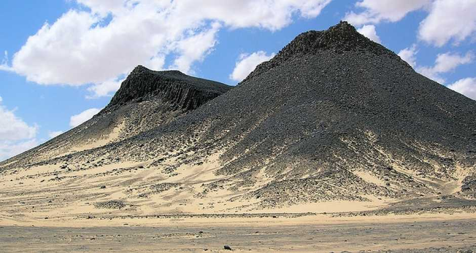 The black desert in Egypt