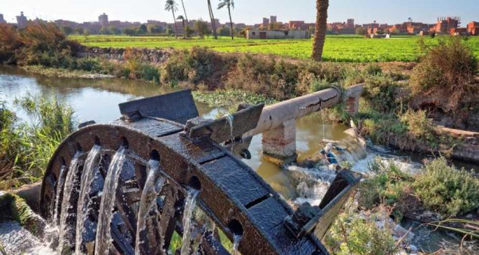 De Waterwielen in Fayoum oase