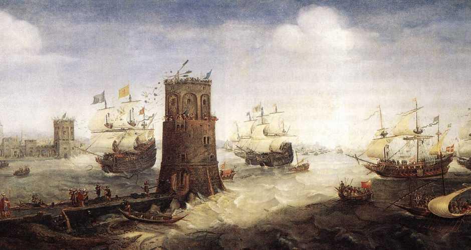 The Capture of Damietta-painting-Cornelis Claesz van Wieringen