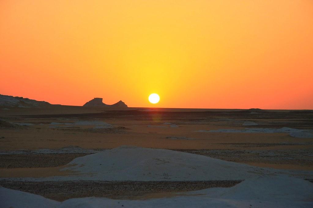 sunset white desert