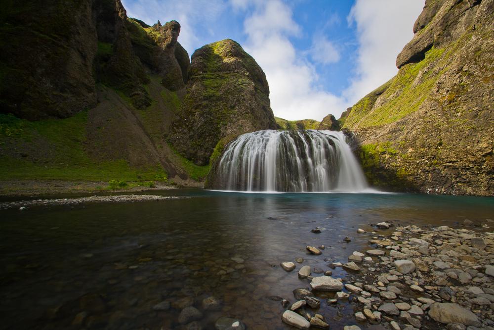 Stjórnarfoss Waterfall in Iceland