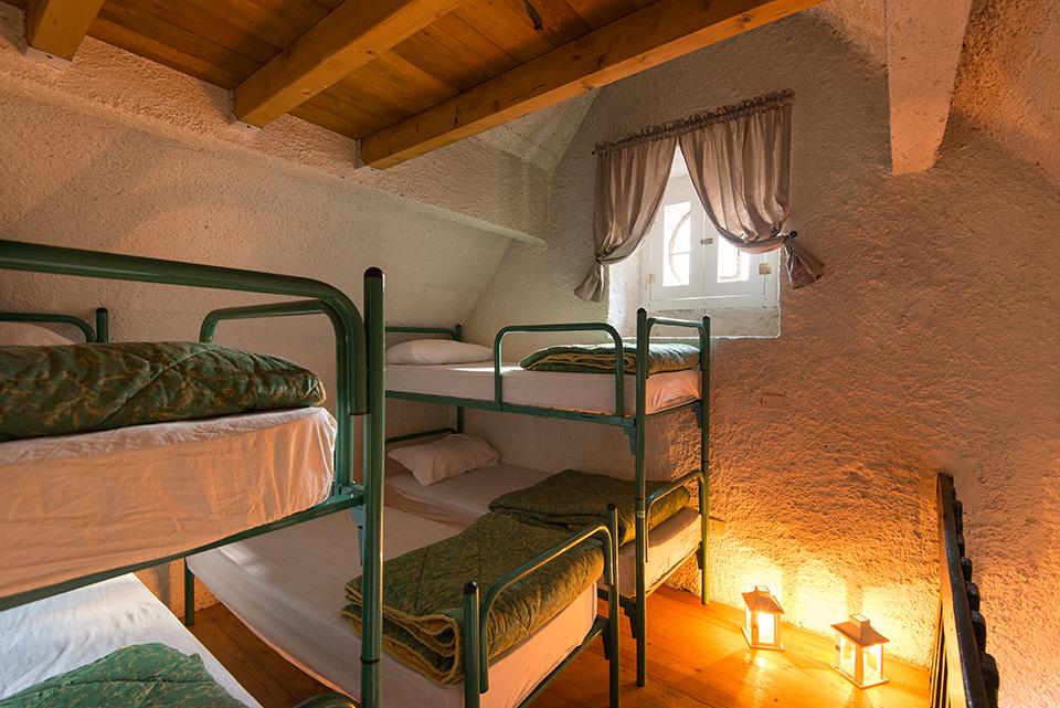 La camerata con cinque comodi posti letto