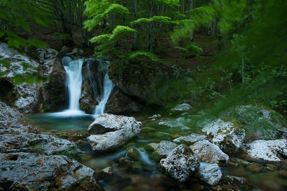 I corsi d'acqua della Val Fondillo e della Val Canneto offrono scorci fiabeschi