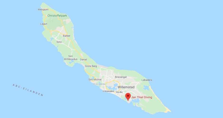 Location on Curacao